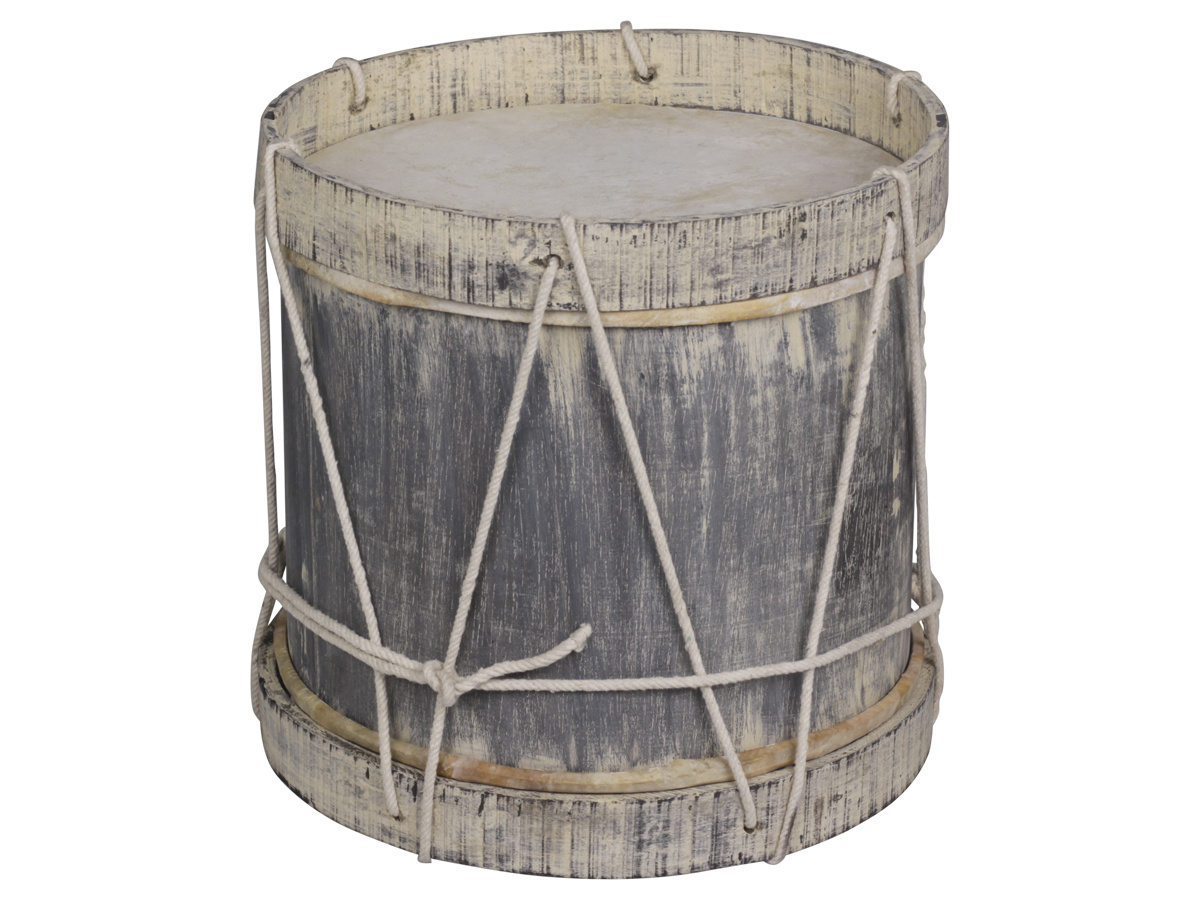 Billede af Chic Antique Vintage Tromme (X17) med læder håndlavet
