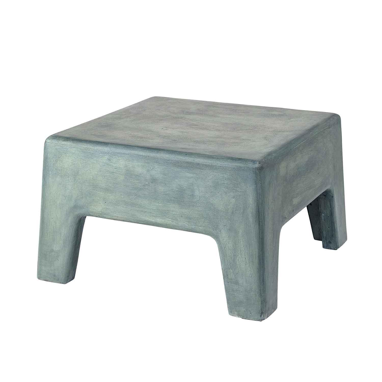BLOOMINGVILLE Ravi taburet - grøn beton, kvadratisk (54x54) thumbnail
