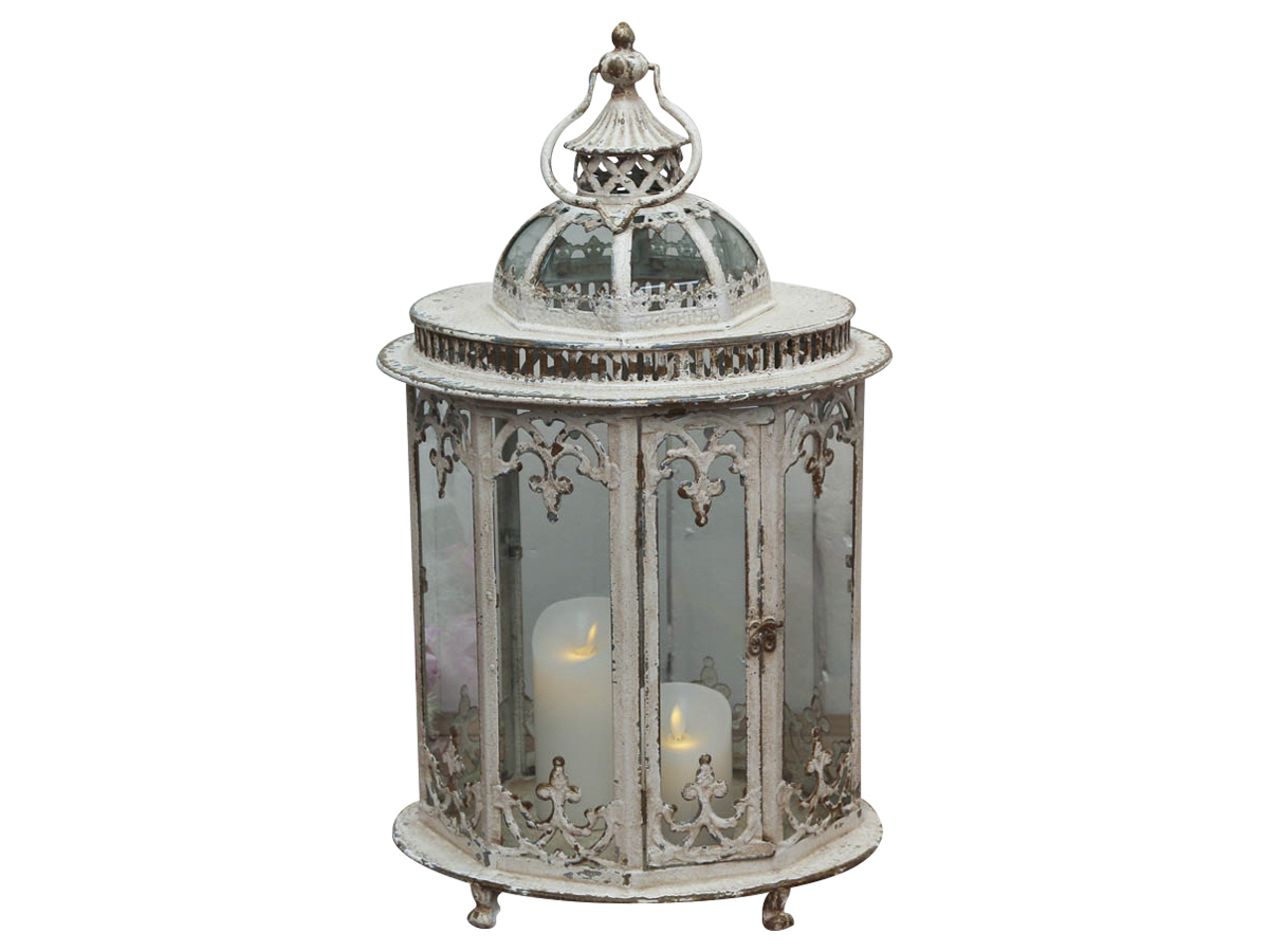Billede af Chic Antique Lanterne med mønster oval