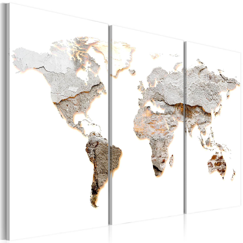 artgeist Artgeist verdenskort - concrete continents, på lærred 120x80 på boboonline.dk