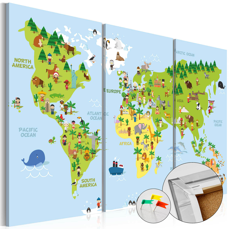 Artgeist Verdenskort for børnene