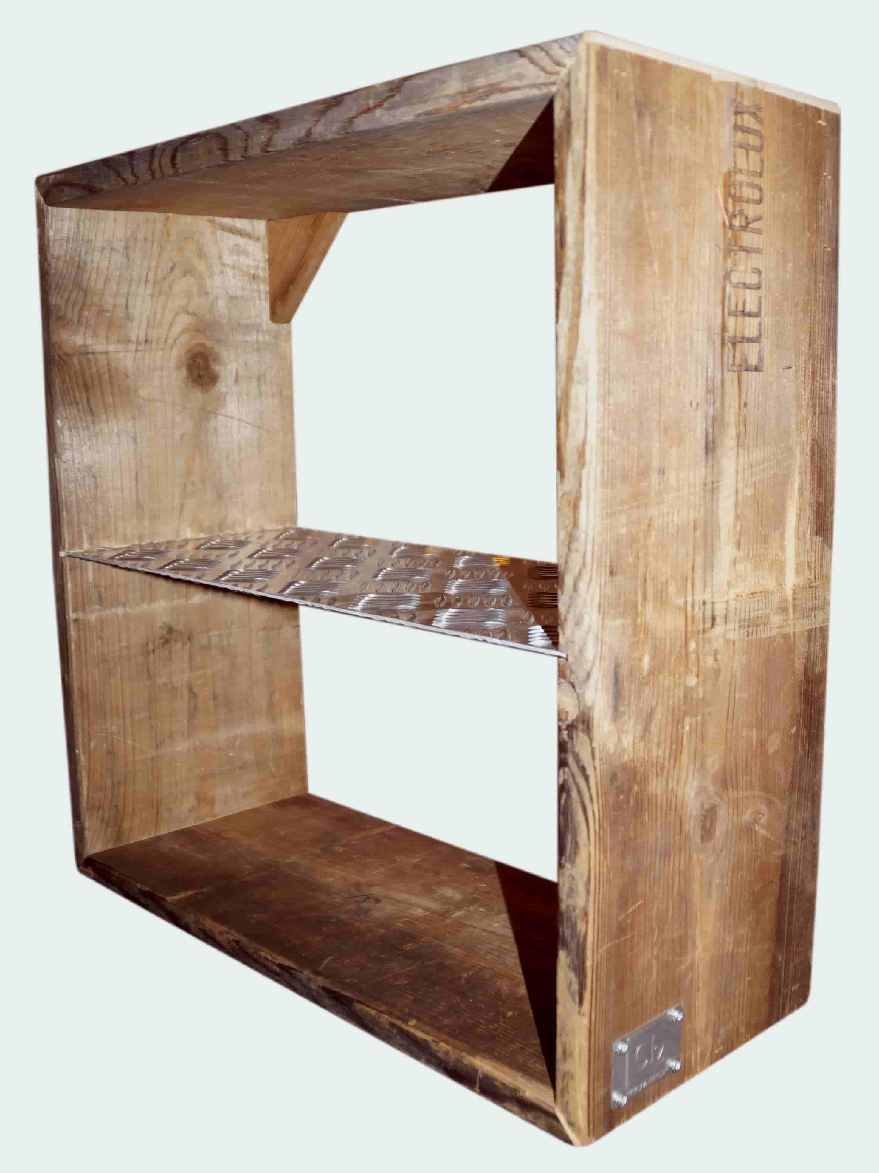 Image of   A2 LIVING Cube hylde - genbrugspalleramme træ, 2 rum