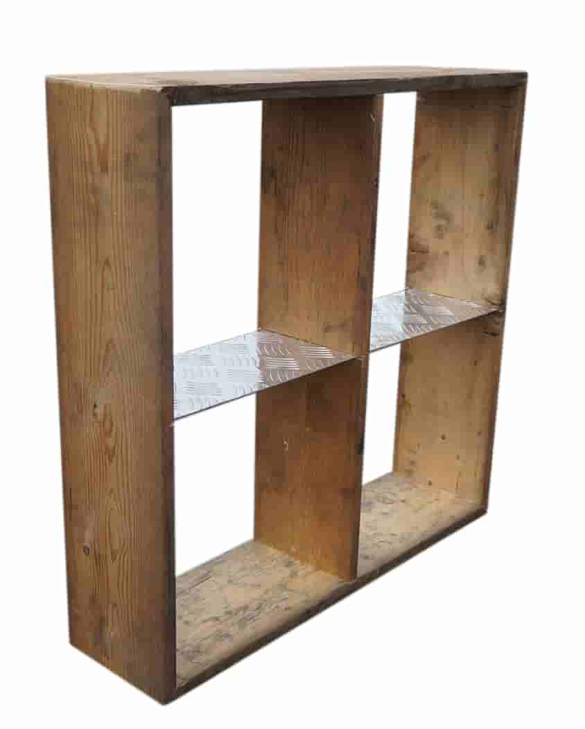 Image of   A2 LIVING Stor Cube hylde - genbrugspalleramme træ, 4 rum