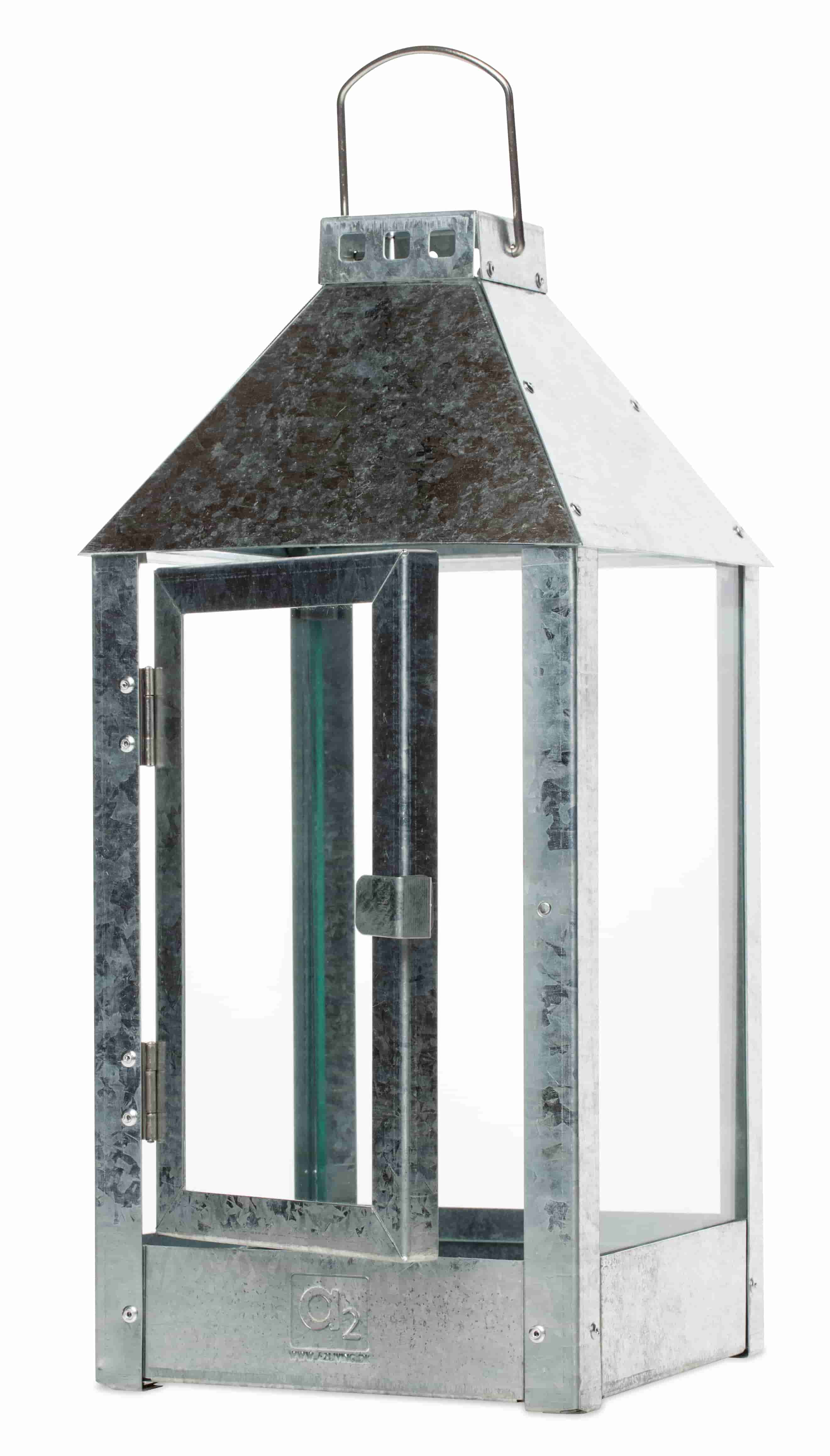 Image of   A2 LIVING Midi lanterne - rustfri stål (19x42,5)