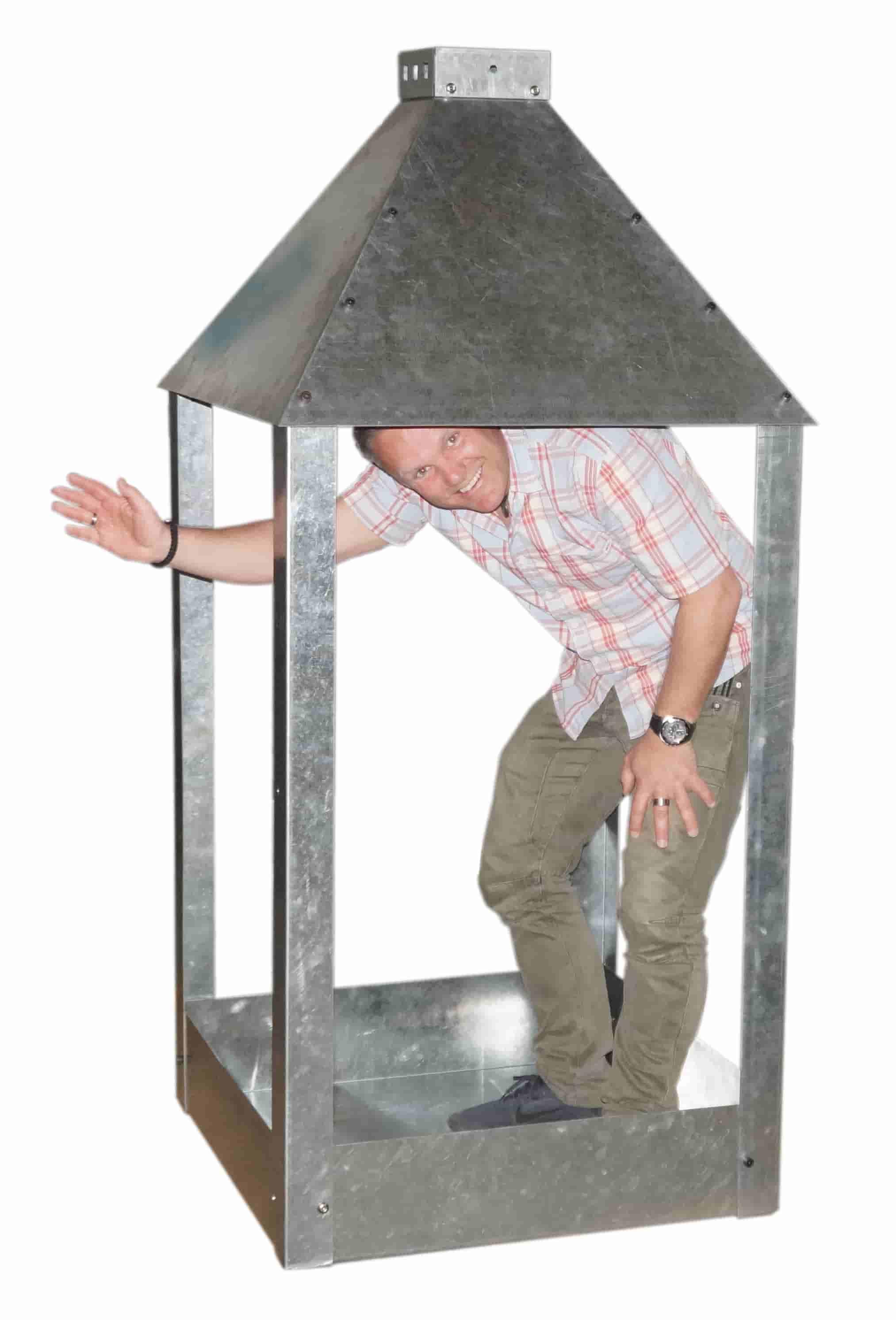 A2 living mammut lanterne - rustfri stål (91x180) fra a2 living fra boboonline.dk