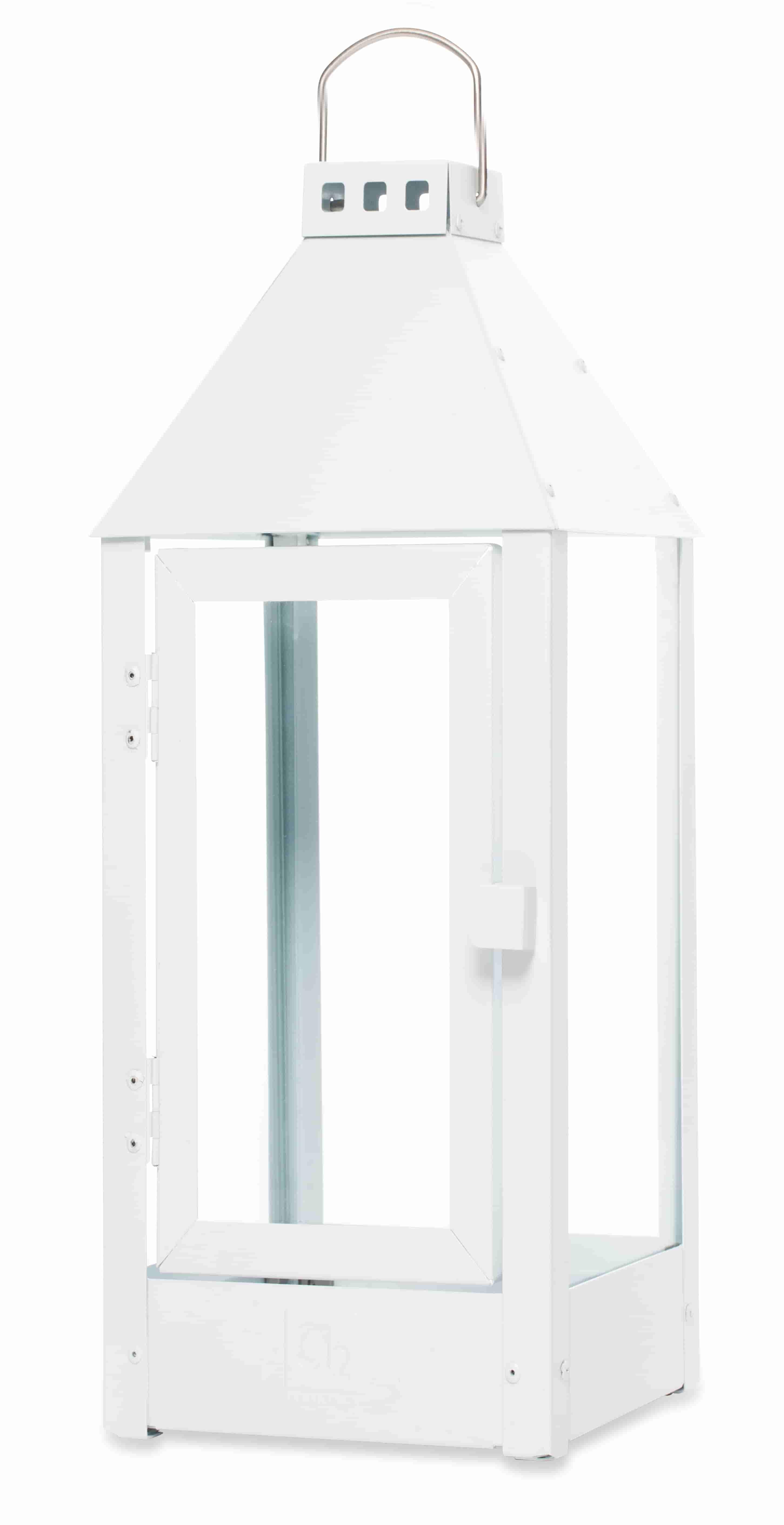 a2 living – A2 living maxi lanterne - mat hvid, galvaniserede (22,5x60) fra boboonline.dk
