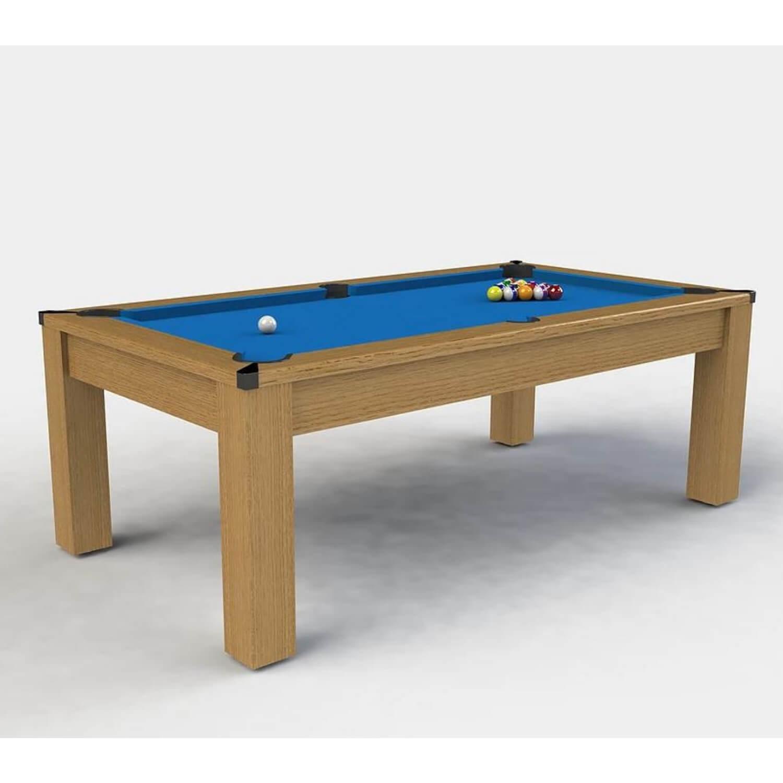 Riley challenger 7 fods poolbord - egetræsfin?r/blåt klæde fra riley leisure fra boboonline.dk