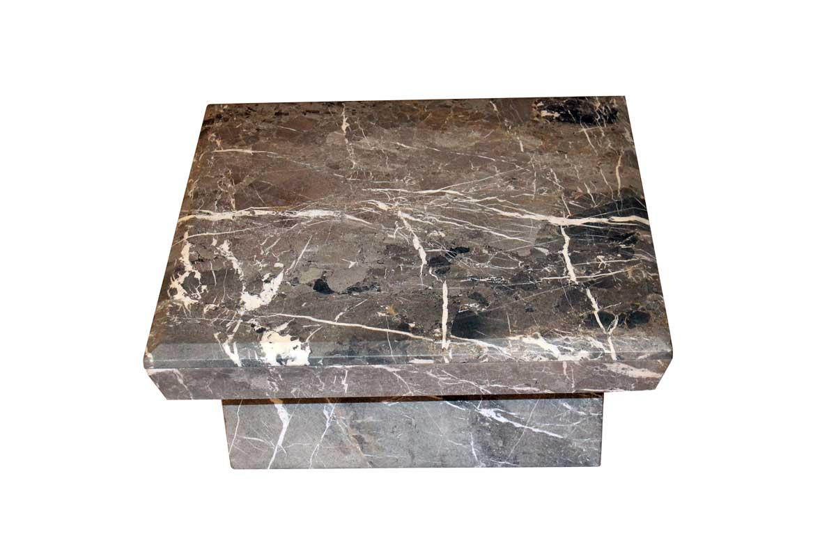 Billede af Marmor sofabord - grå