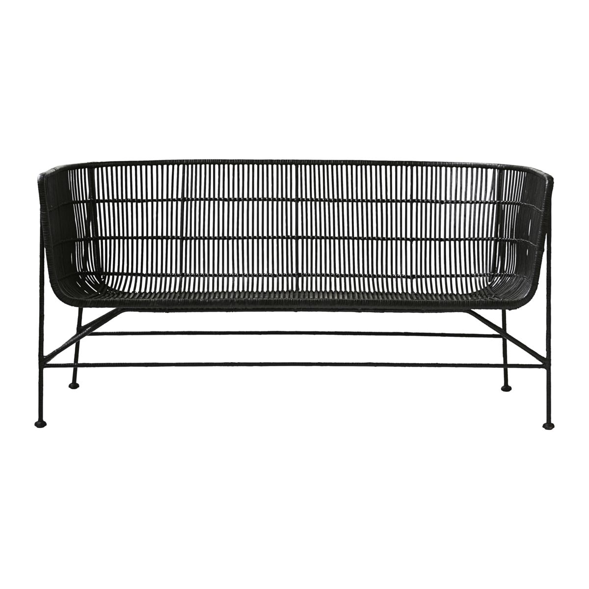 house doctor – House doctor coon sofa - sort rattan og metal - outlet model fra boboonline.dk