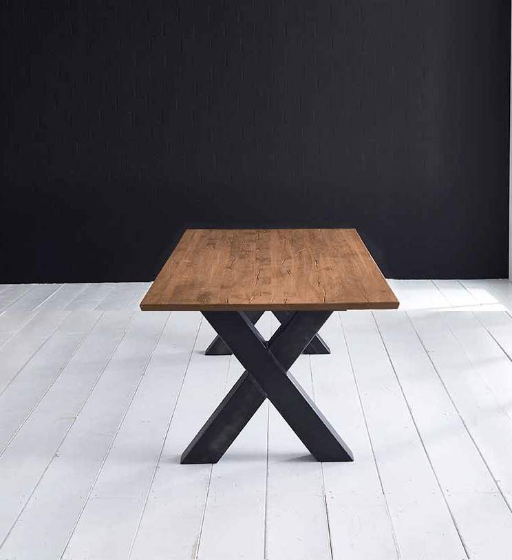 bodahl Concept 4 you plankebord - eg m. schweizerkant og freja-ben, m. udtræk (180-260x100-110) 3 cm 240 x 100 cm 01 = olie fra boboonline.dk