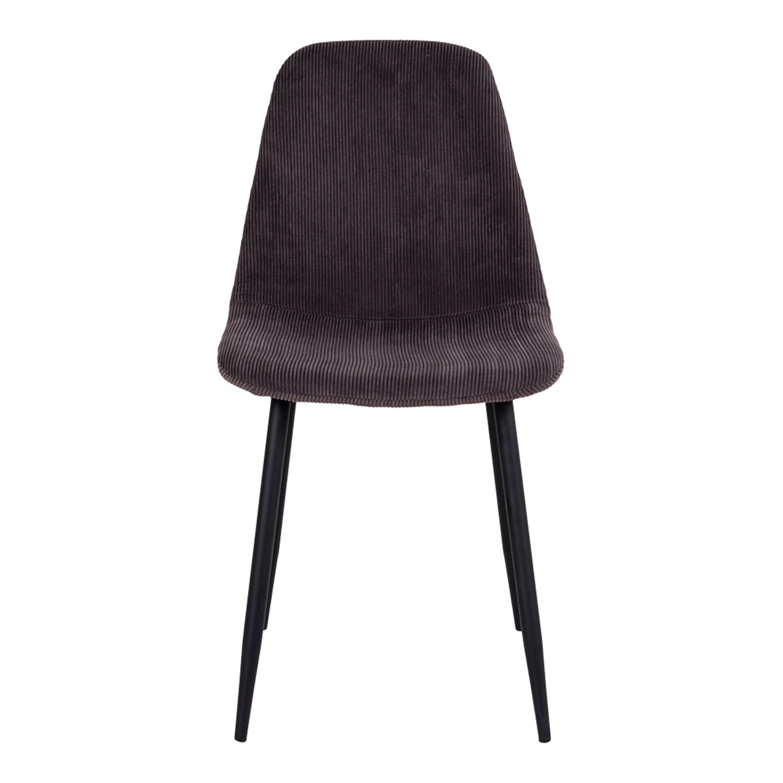 HOUSE NORDIC Stockholm spisebordsstol - grå fløjl og metal