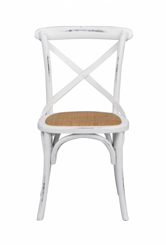 ROWICO Gaston spisebordsstol hvid vintage