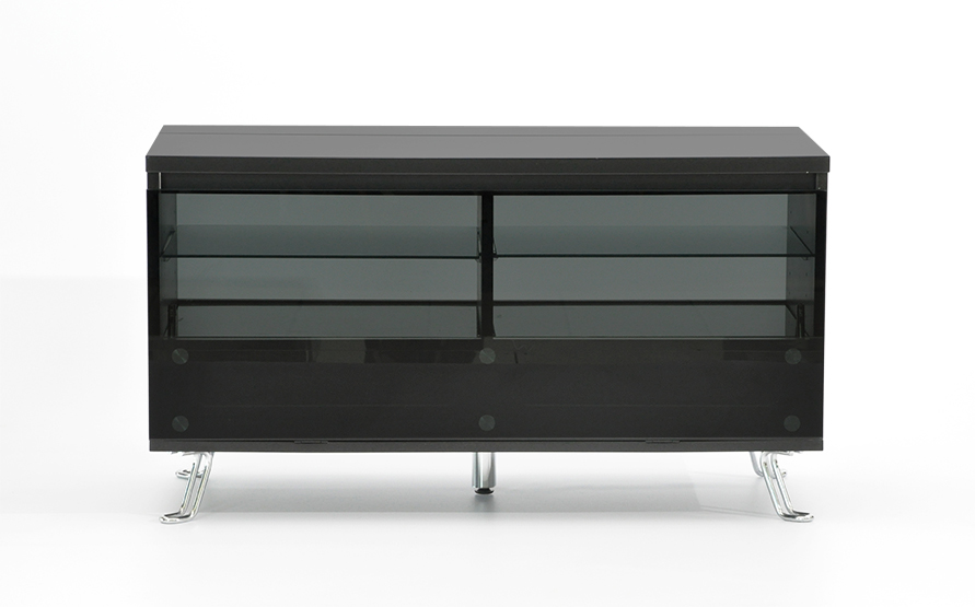 Rge cato tv-bord - sort mdf træ m. glas og glaslåge, uden hjul fra rge fra boboonline.dk
