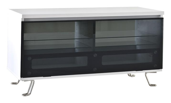 Rge cato tv-bord - hvid mdf træ m. glas og glaslåge, uden hjul fra rge fra boboonline.dk