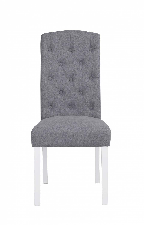 Indra spisebordsstol - lysegrå/hvid