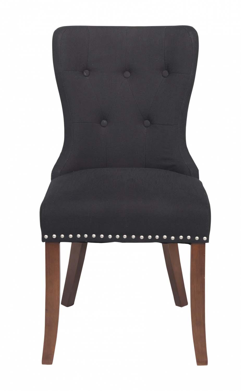 Image of   Adele spisebordsstol - sort stof m. træben