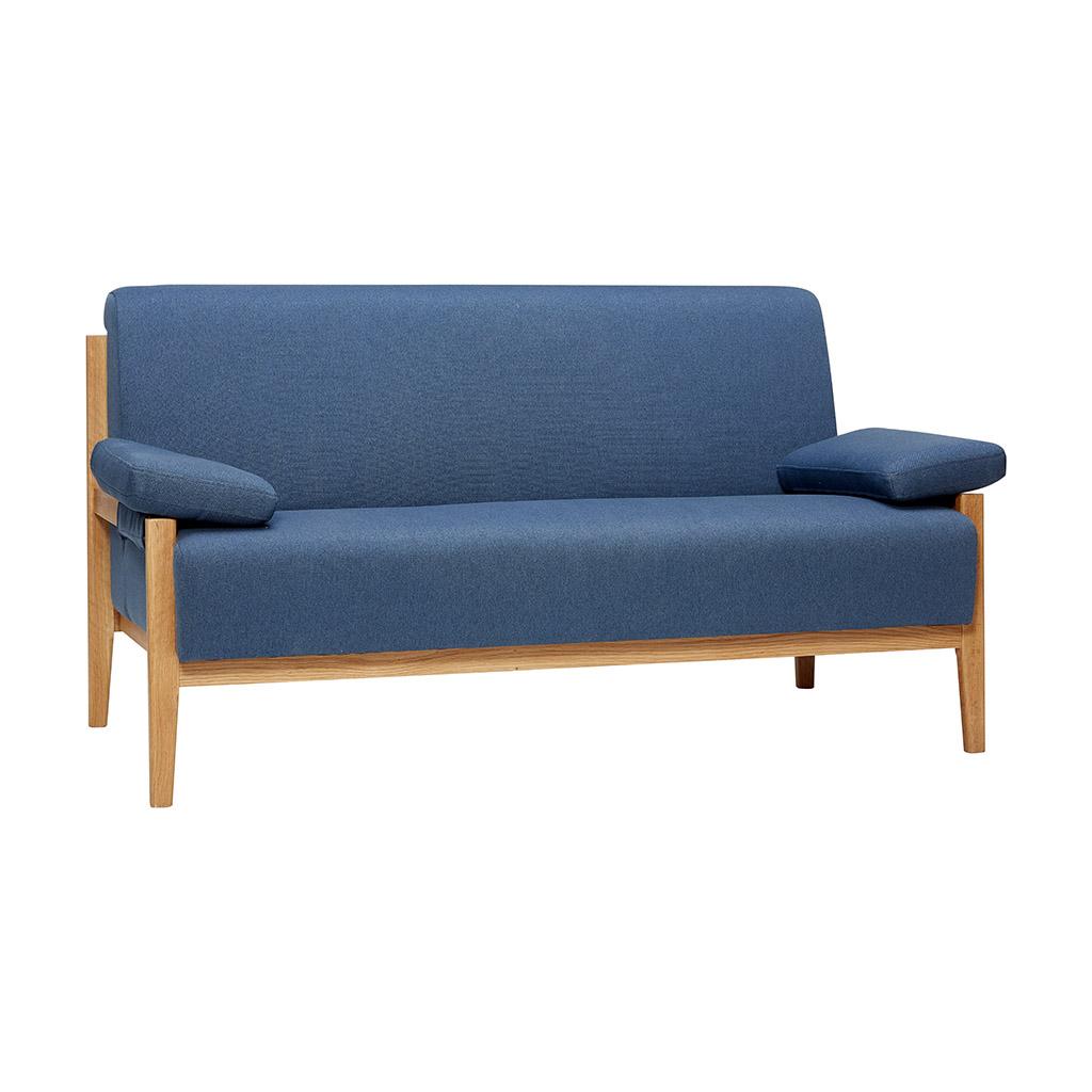 Billede af Hübsch Blå stof sofa til 2 pers.