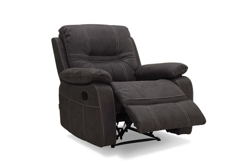 Haga detroit reclinerstol - grå ruskindslook