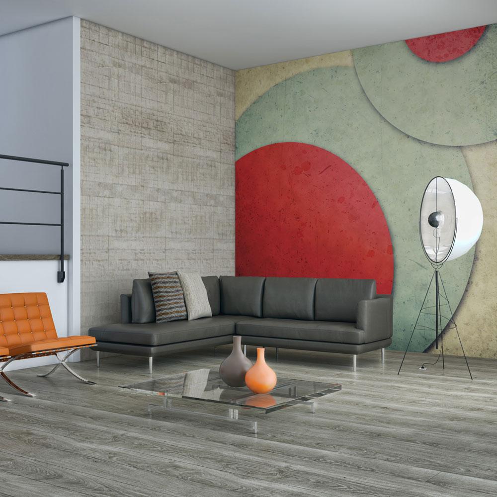 Artgeist Fototapet - circles - retro style, retro cirkler (flere størrelser) 350x270