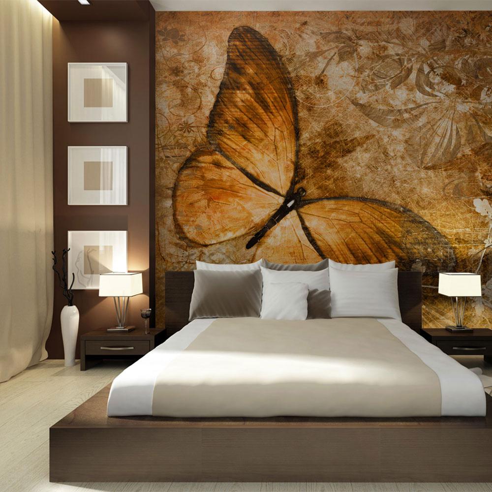 fototapet - butterfly (sepia) 250x193 fra artgeist