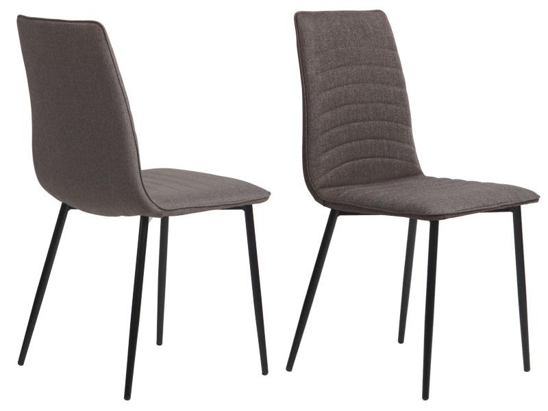 Preform lisa spisebordsstol - mørkegrå stof m. stål stel