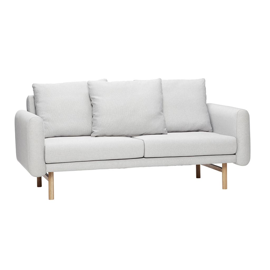 Image of   HÜBSCH Lysegrå stof sofa, 2 pers.