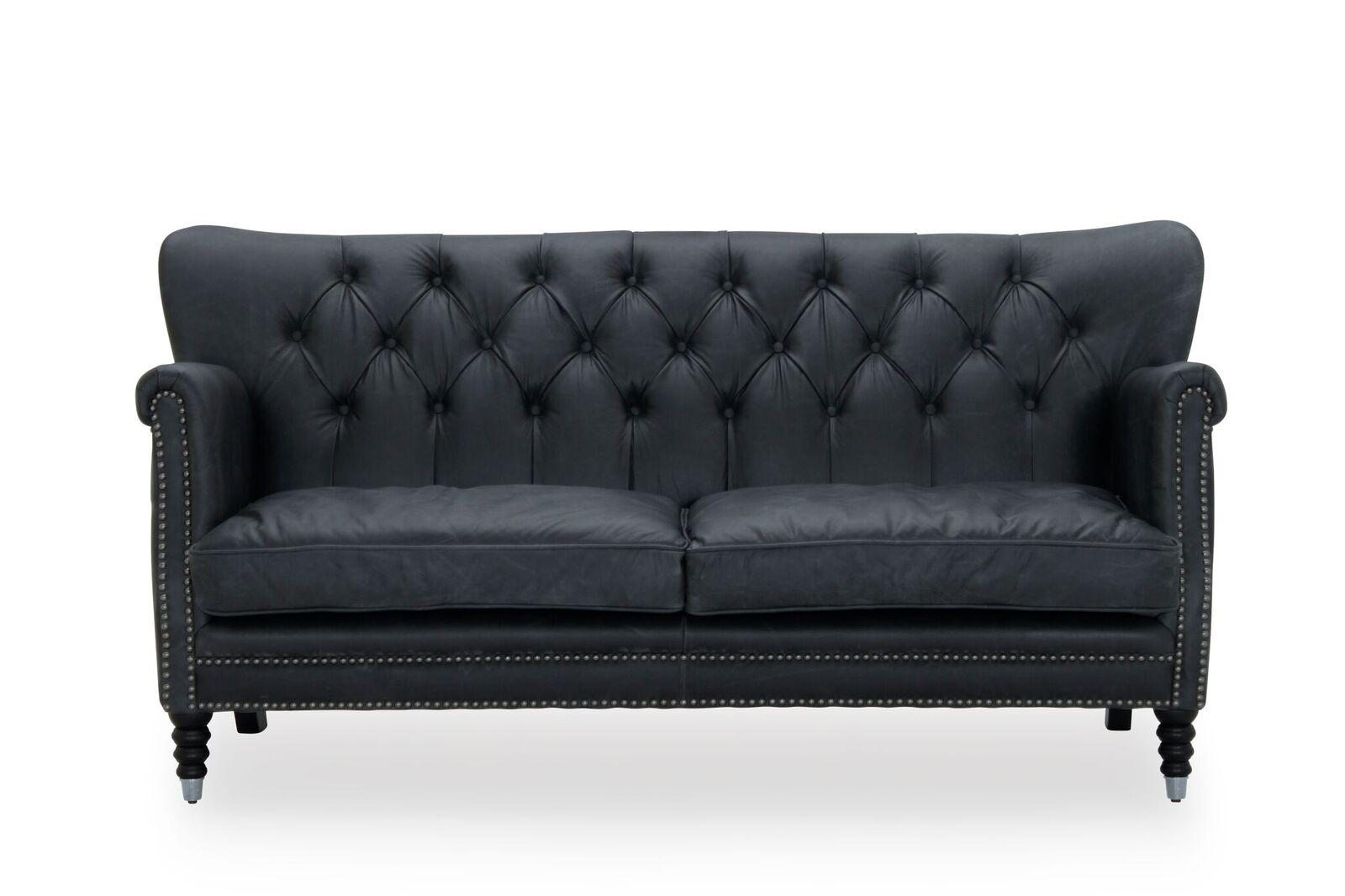 HAGA Glasgow 2,5 pers. sofa - sort læder PU