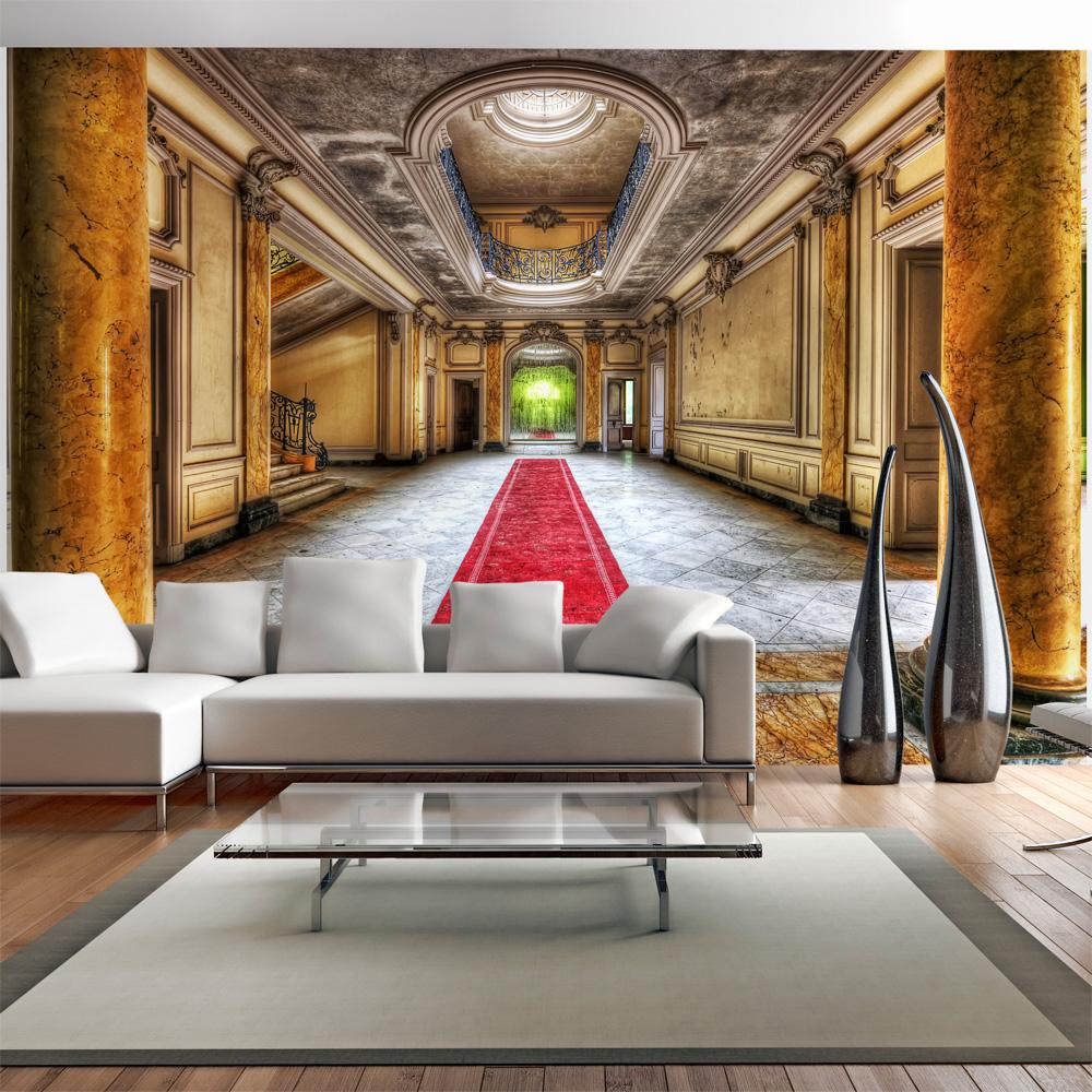 artgeist arkitektur fototapet med motiv af gammelt slot med marmor tekstur (flere størrelser) 300x210 fra artgeist