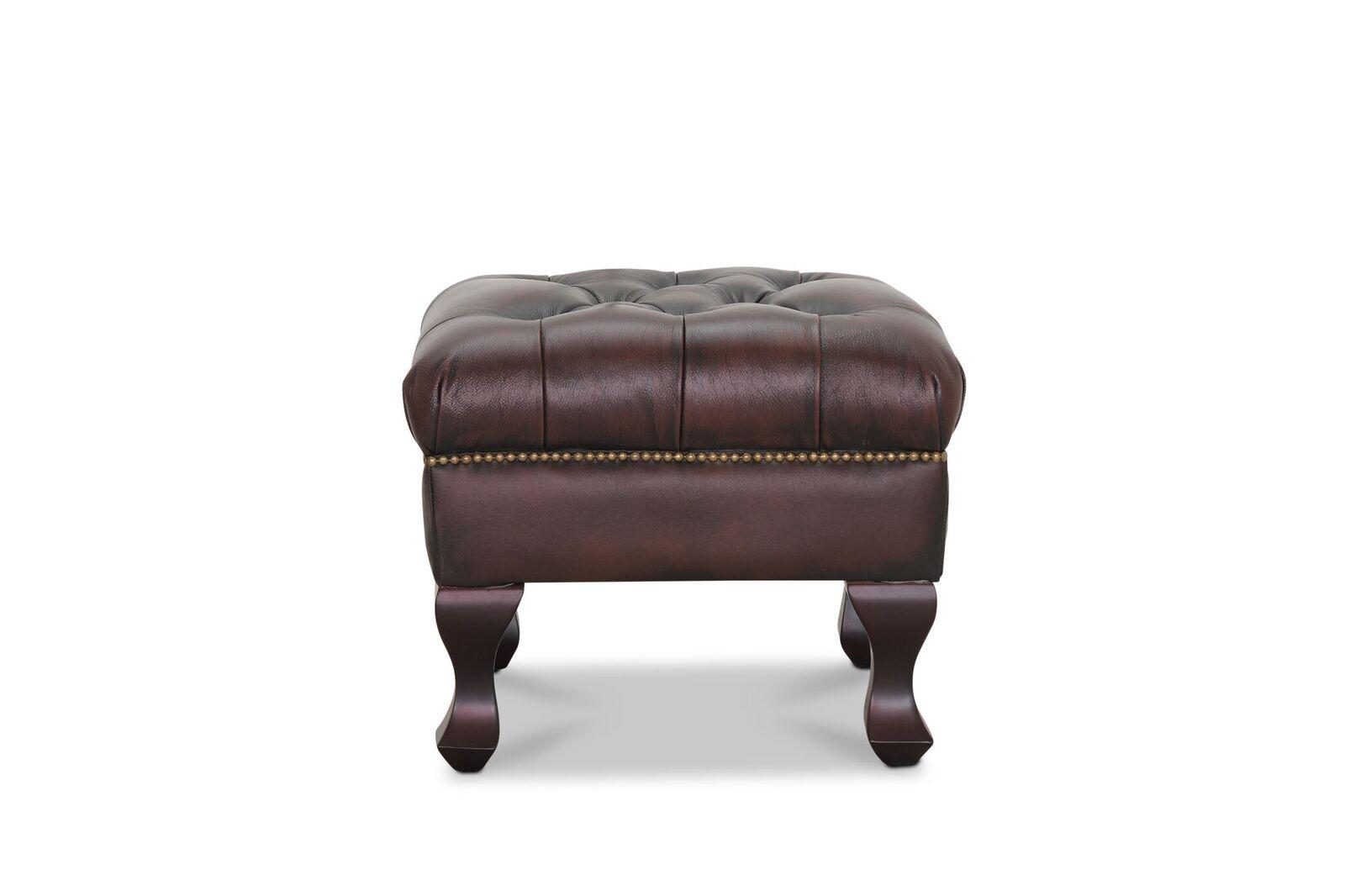 HAGA Aberdeen skammel - brun læder PU