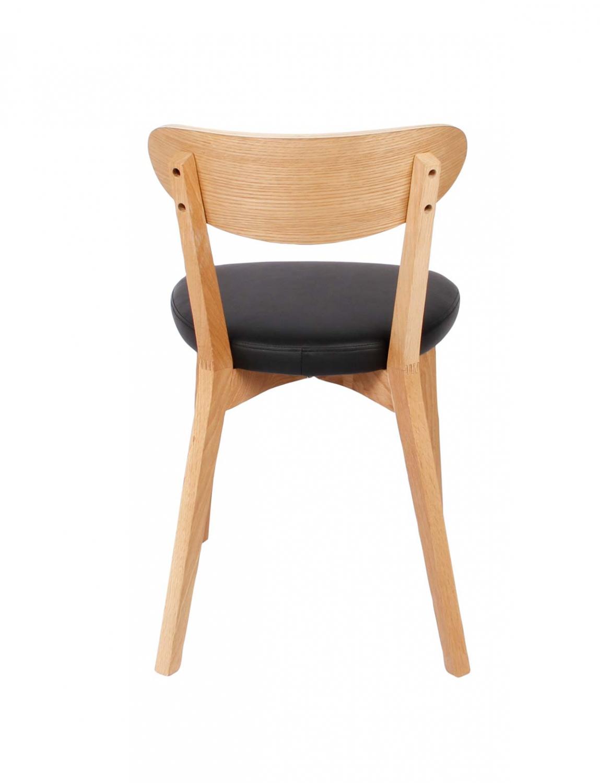 Preform lucy spisebordsstol - sort pu og eg