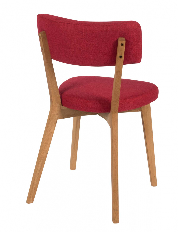 Preform lucy spisebordsstol - rødt stof og eg