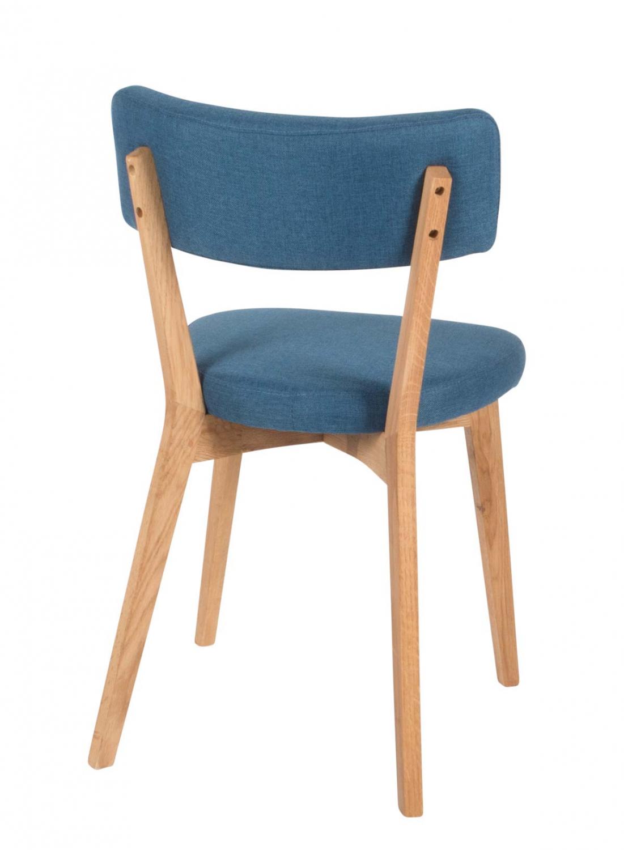 Preform lucy spisebordsstol - blåt stof og eg