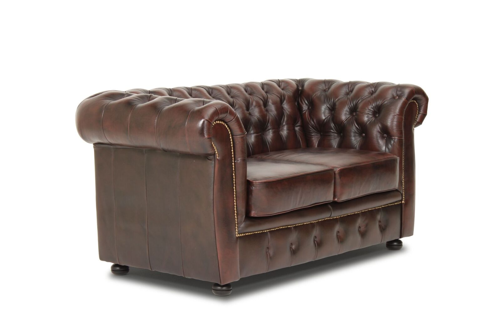 Haga liverpool 2 pers. sofa - brun læder fra haga gruppen fra boboonline.dk