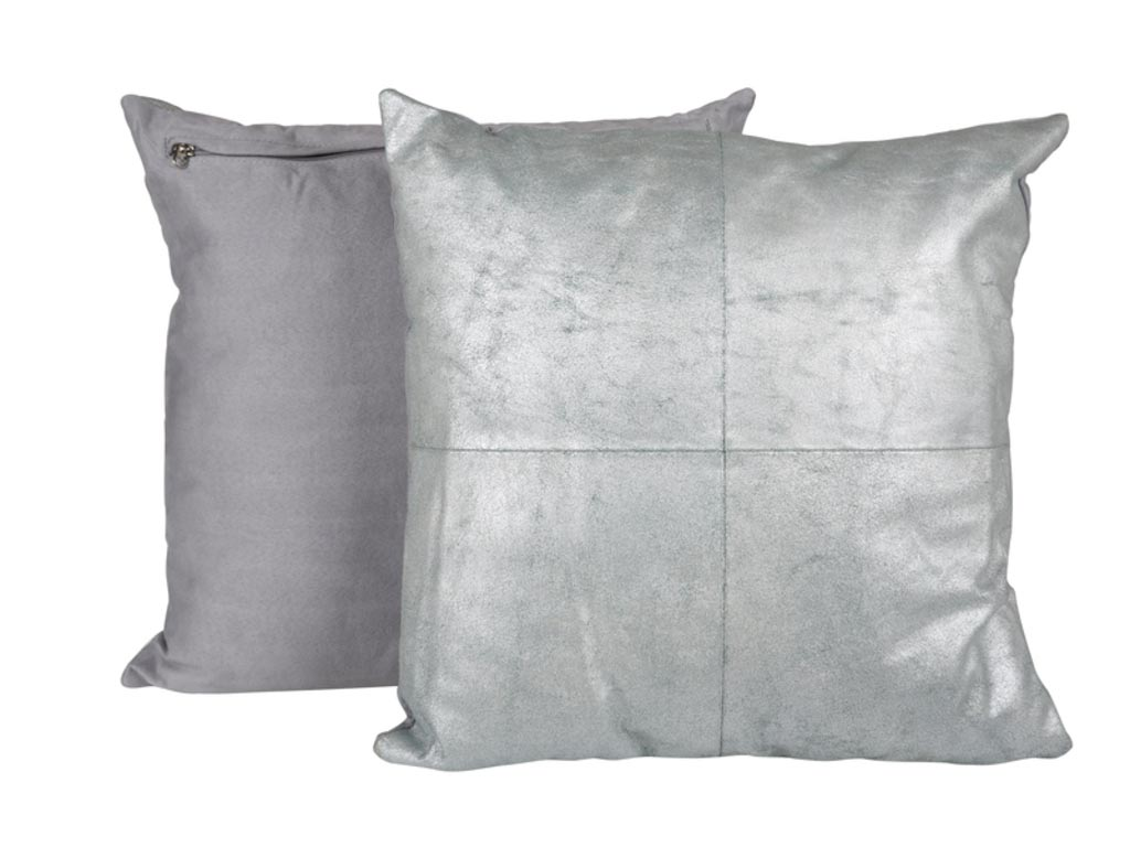Canett aya pude - lysegrøn/sølv, læder/stof fra canett på boboonline.dk