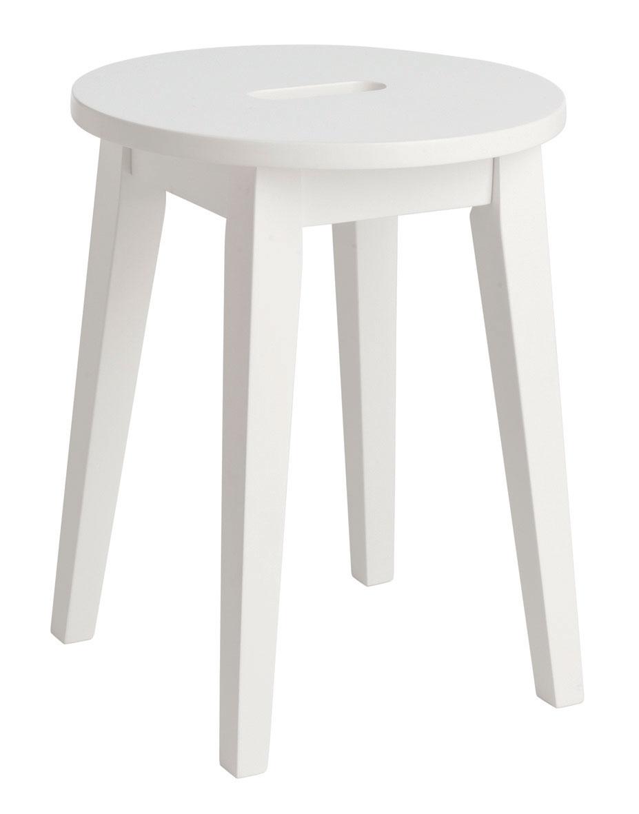 Image of   Confetti skammel - hvidt birk