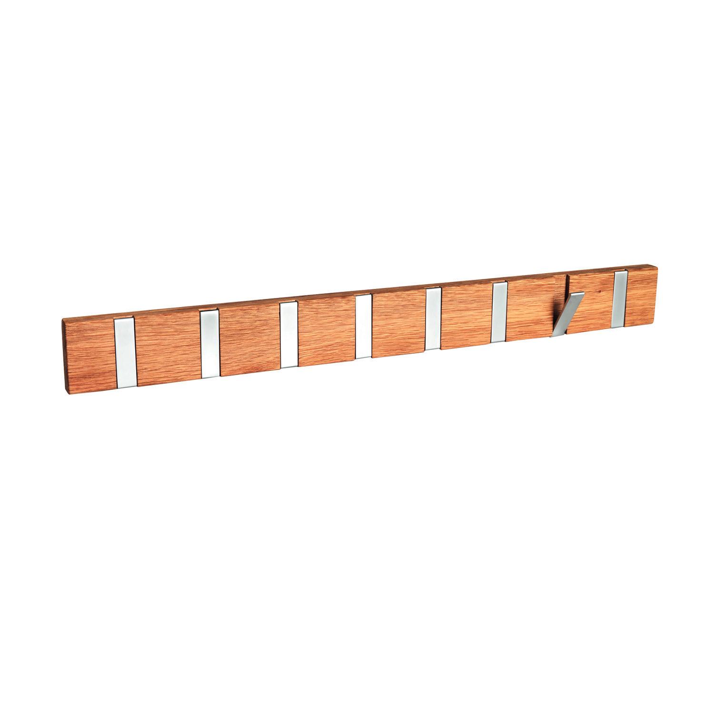 ROWICO rektangulær Confetti knagerække m. 8 foldekroge - natur eg og metal (70cm)
