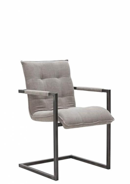 bodahl Bodahl sabina spisebordsstol - læder/stof, m. armlæn børstet 14 - kiss army på boboonline.dk