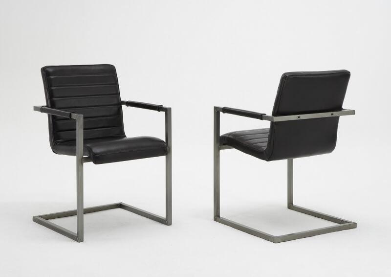 bodahl – Bodahl sabina spisebordsstol - læder/stof, m. armlæn sort 140 - matt black på boboonline.dk