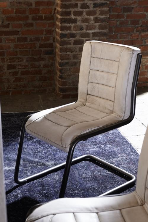 bodahl – Bodahl franco spisebordsstol - bøffellæder, u. armlæn 120 - matt white antique på boboonline.dk