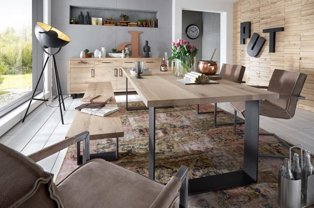 Bodahl woodstock plankebord - bianco eg, m. udtræk (lige kant) 240 x 100 cm u-ben fra bodahl på boboonline.dk
