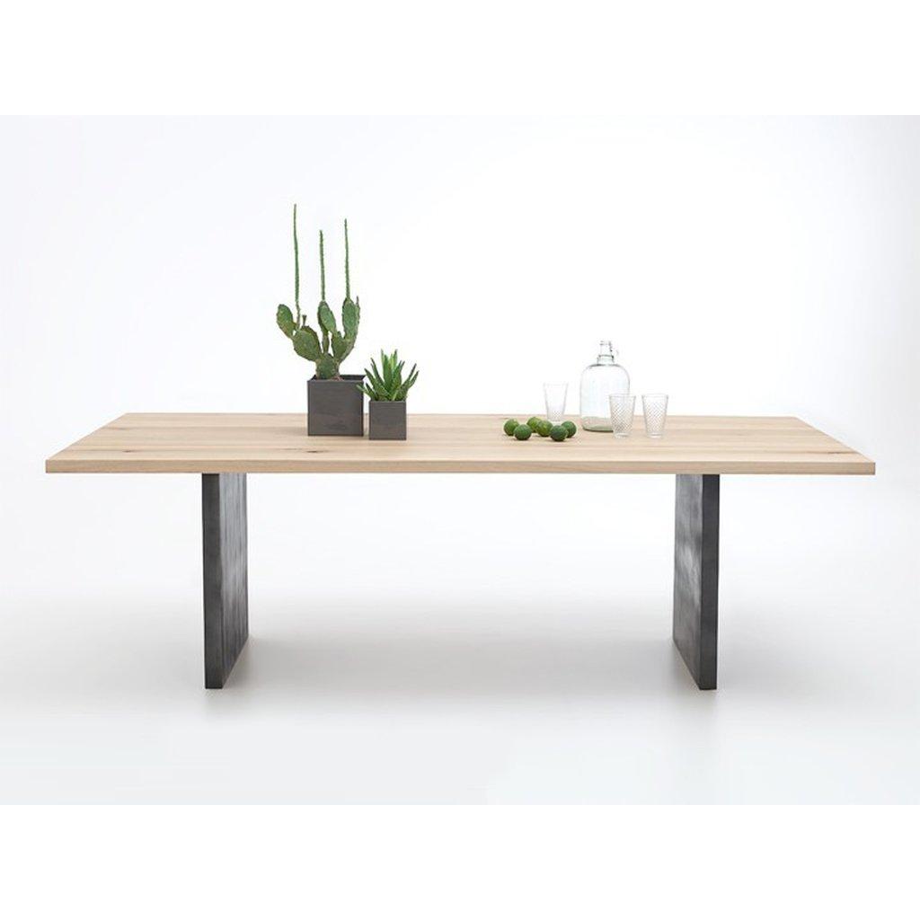 bodahl Bodahl woodstock plankebord - bianco eg, m. udtræk (lige kant) 200 x 100 cm t-ben på boboonline.dk