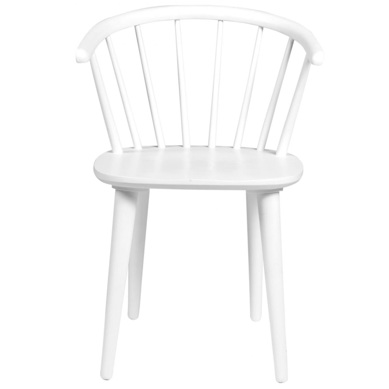ROWICO Carmen spisebordsstol - hvidt træ, m. armlæn