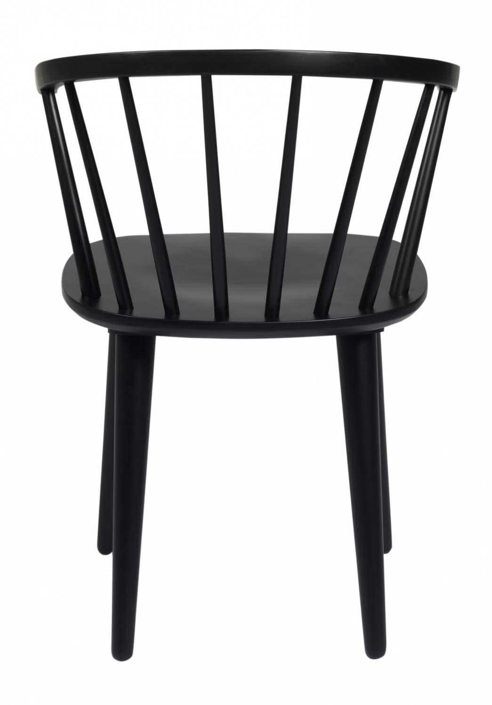 ROWICO Carmen spisebordsstol sort træ, m. armlæn