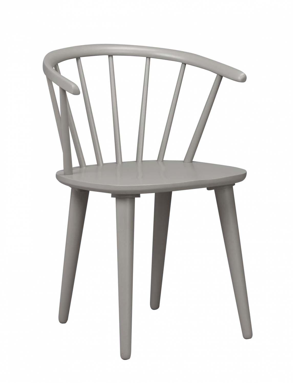 ROWICO Carmen spisebordsstol lysegråt træ, m. armlæn