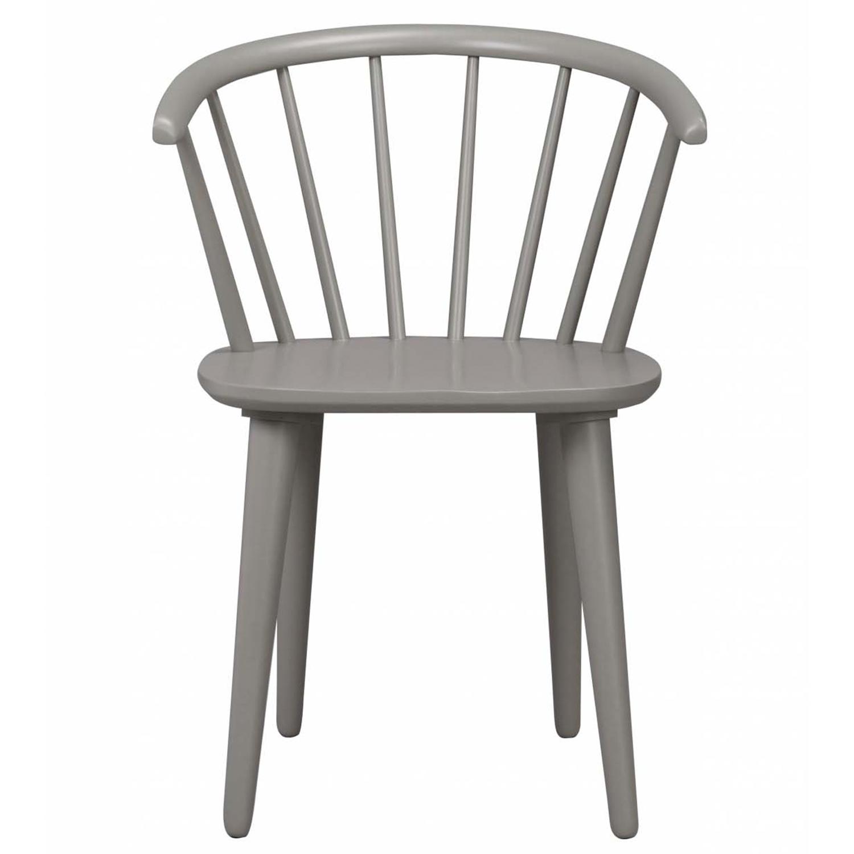 ROWICO Carmen spisebordsstol - lysegråt træ, m. armlæn - OUTLET