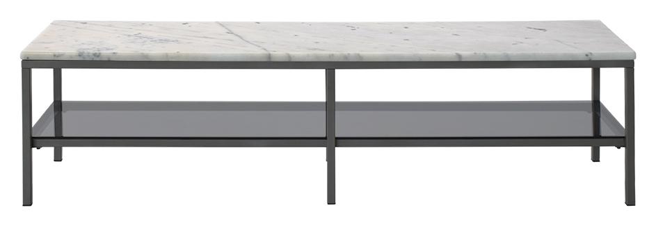 Billede af Ascot marmor TV-bord - hvid/grå