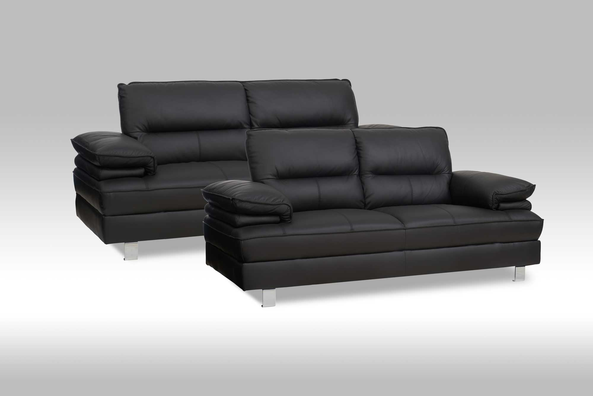moderne susie sofast med en 2 3 pers sofa i sort lder. Black Bedroom Furniture Sets. Home Design Ideas
