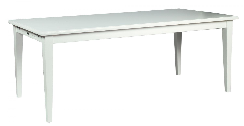 Koster spisebord - hvid m. udtræk (200x100)