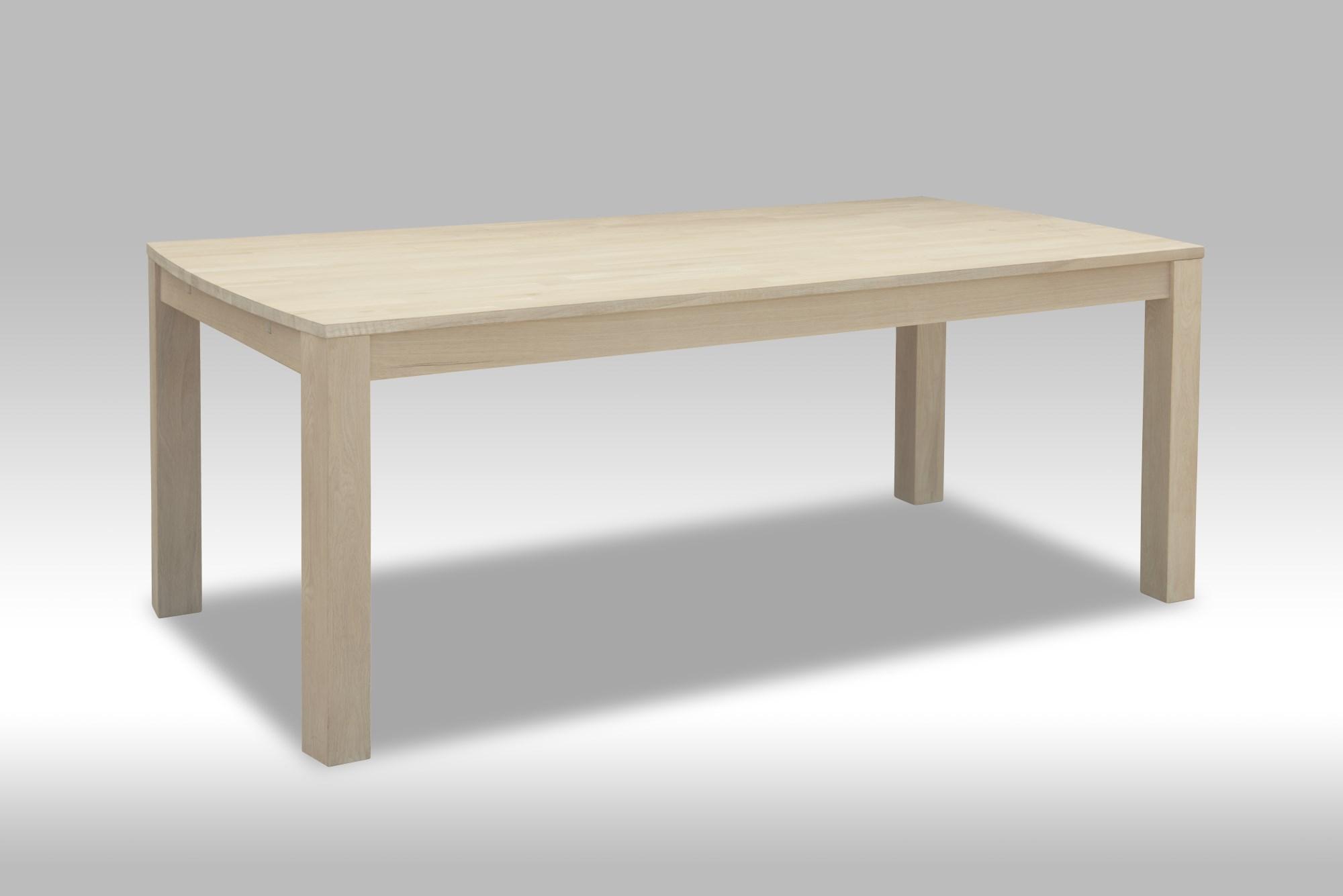 Boboonline Paris Spisebord - Hvidolieret Egetræ, 200 X 100 Cm Spiseborde I Træ