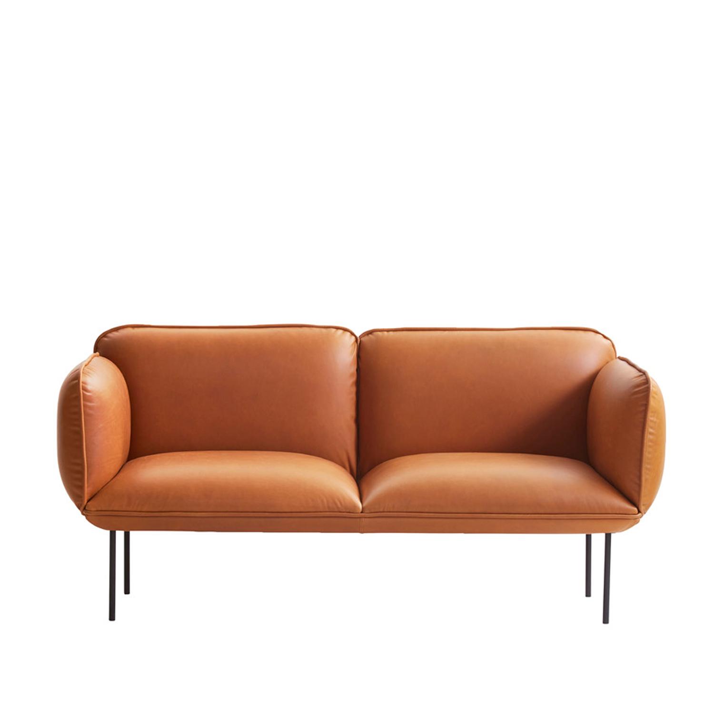 woud Woud nakki 2-pers. sofa - brun læder fra boboonline.dk